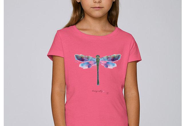 Mädchen T-Shirt- Libelle