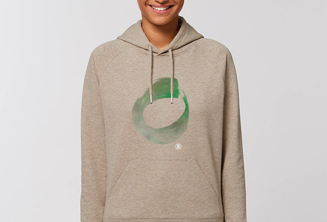 Damen Basic Hoodie - Think Green