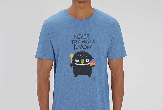 Basic T-Shirt- never try never know