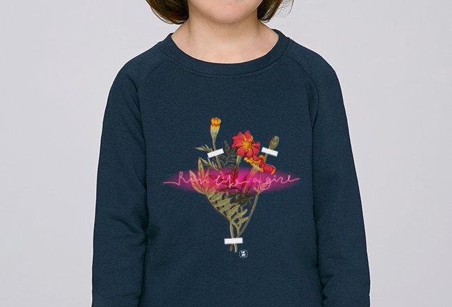 Mädchen Sweatshirt - NEON SIGN