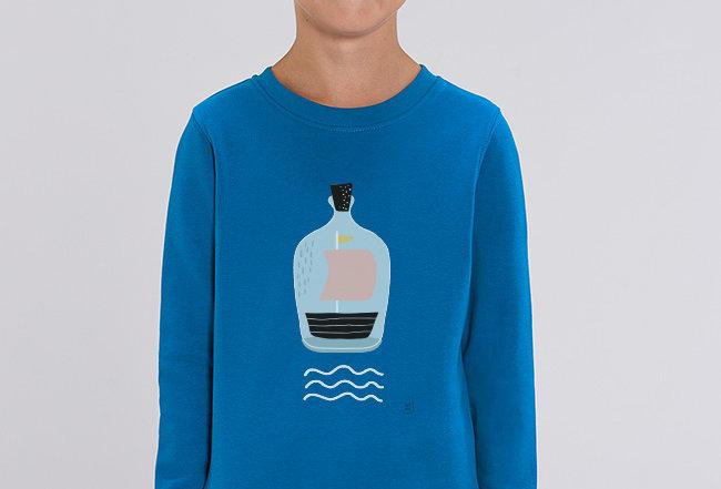 Jungs Sweatshirt - Piratenschiff im Glas