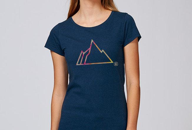 Basic T-Shirt - Reine Biobaumwolle - FADED MOUNTAIN