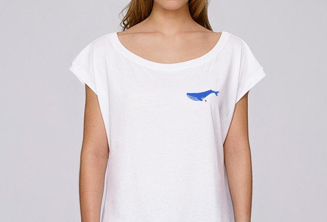 Boho T-Shirt   - Blauwal