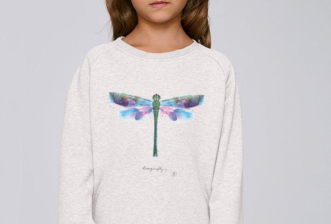 Mädchen Sweatshirt - Libelle