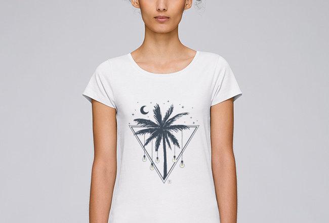 Basic T-Shirt - Reine Biobaumwolle - Tropical Light