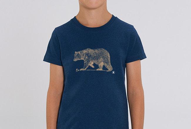 Jungen T-Shirt - golden Bear