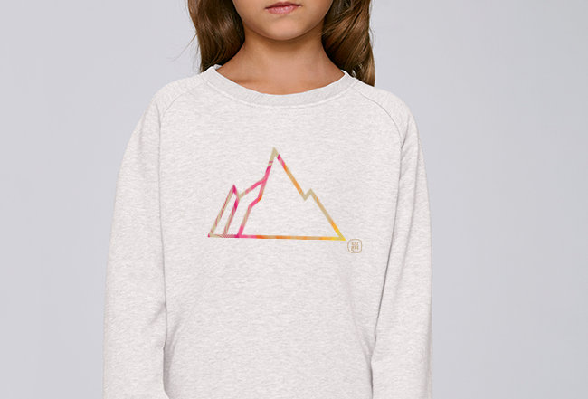 Mädchen Sweatshirt - FADED MOUNTAIN