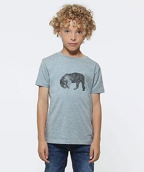 Kultgut_Kids_T-Shirt_Junge_Graublau_Tige
