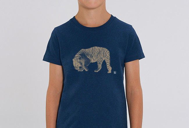 Jungen T-Shirt - golden Tiger