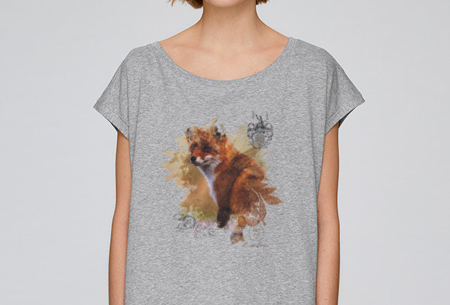 Oversize T-Shirt  - Happy Fox