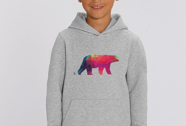 Jungen Hoodie - Polarbear