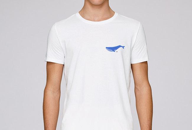 Basic T-Shirt - Blauwal
