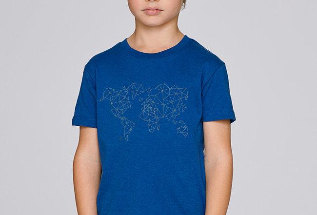 Jungs T-Shirt- Worldmap