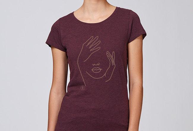 Basic T-Shirt - Reine Biobaumwolle - Face