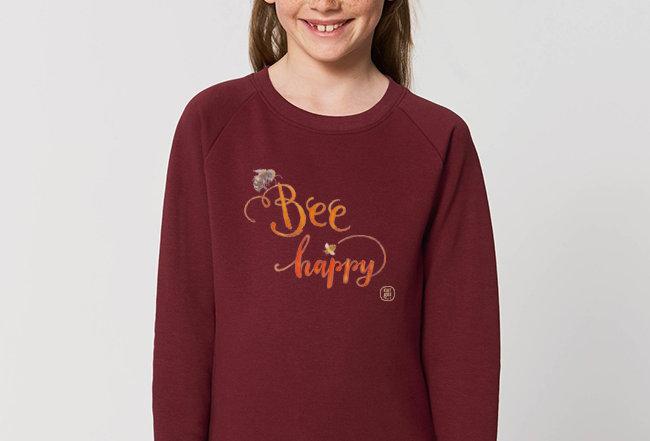 Mädchen Sweatshirt - Bee Happy