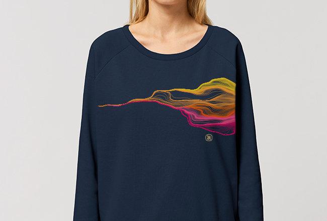 Modernstyle Sweatshirt- Pink FADED