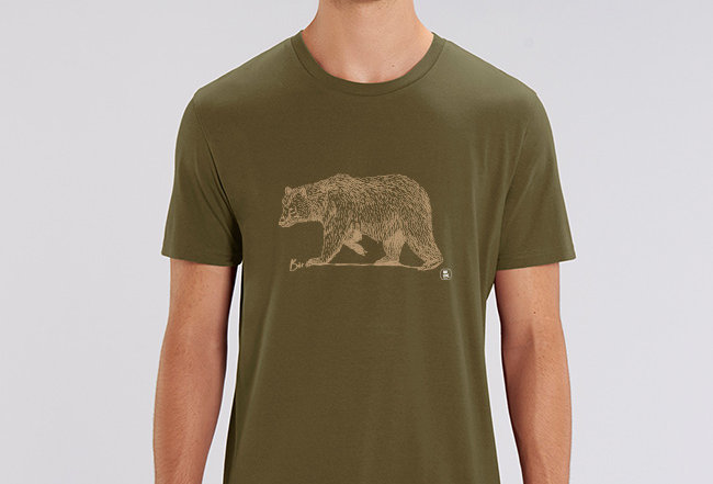Händler Basic T-Shirt - golden Bear