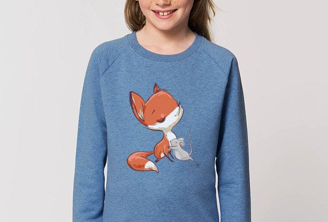 Mädchen Sweatshirt - Fuchs und Maus