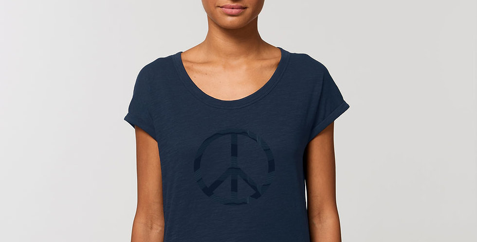 Rolled Sleve Shirt /Peace
