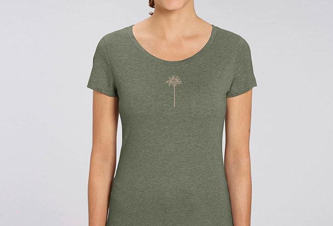 Basic T-Shirt - Reine Biobaumwolle - Daisy