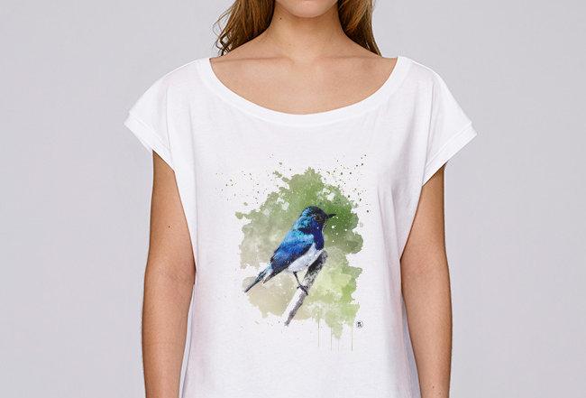 Oversize T-Shirt  - Blaunachtigall