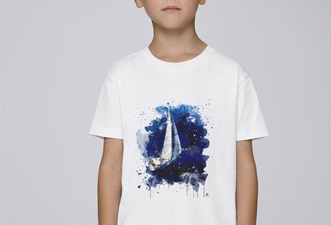 Jungs T-Shirt - Segelboot