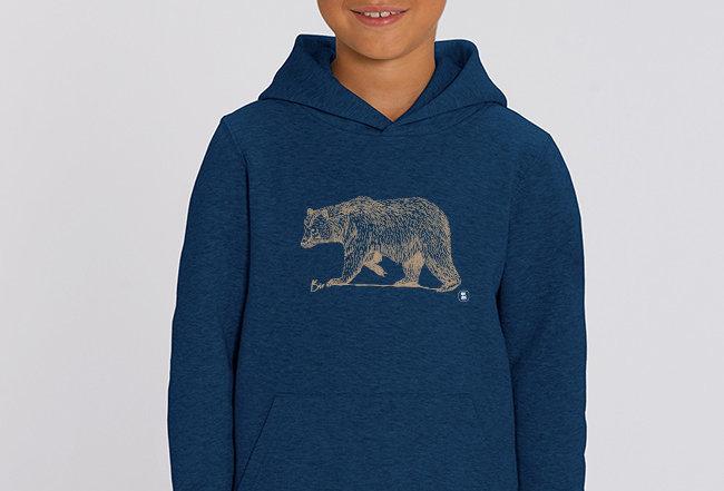 Jungen Hoodie - golden Bear