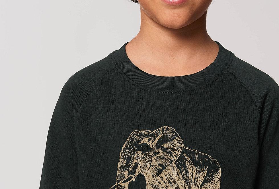 Unisex Sweatshirt-Golden Elephant- save the animals