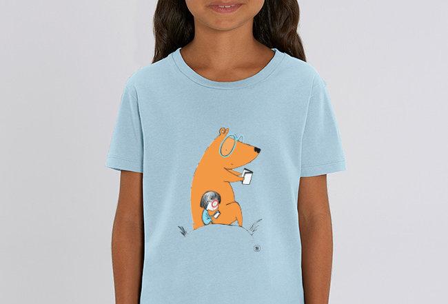Mädchen T-Shirt - Lesebär