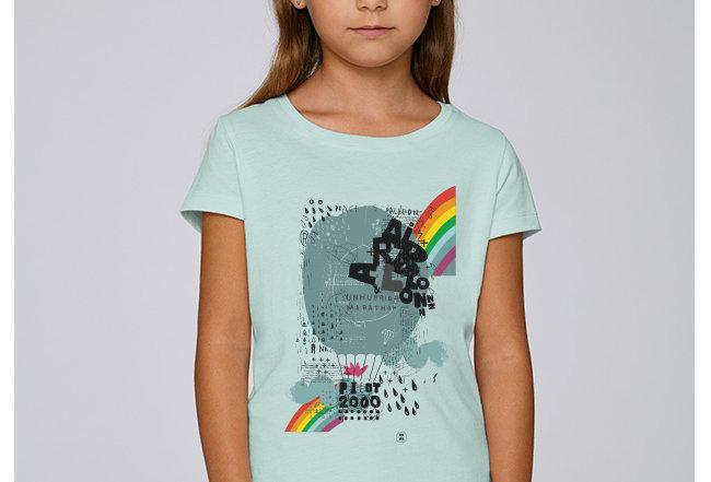 Mädchen T-Shirt - Regenbogen