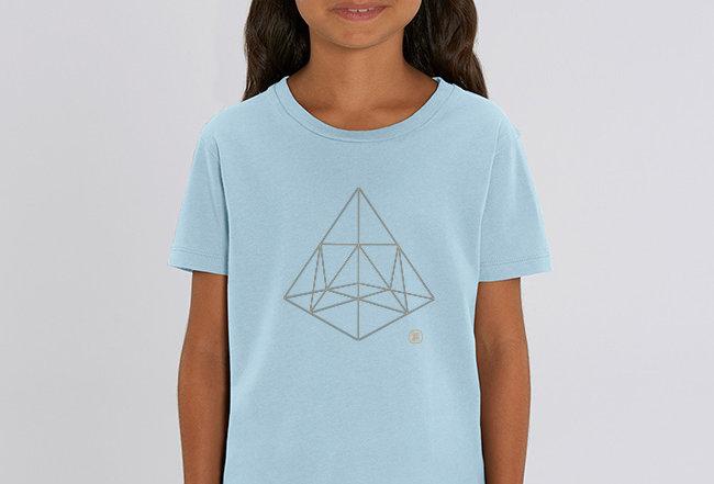 Mädchen T-Shirt- Pyramide
