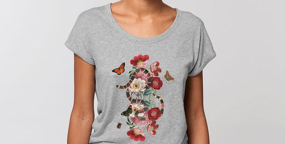 Rolled Sleve Shirt /Garden Eden