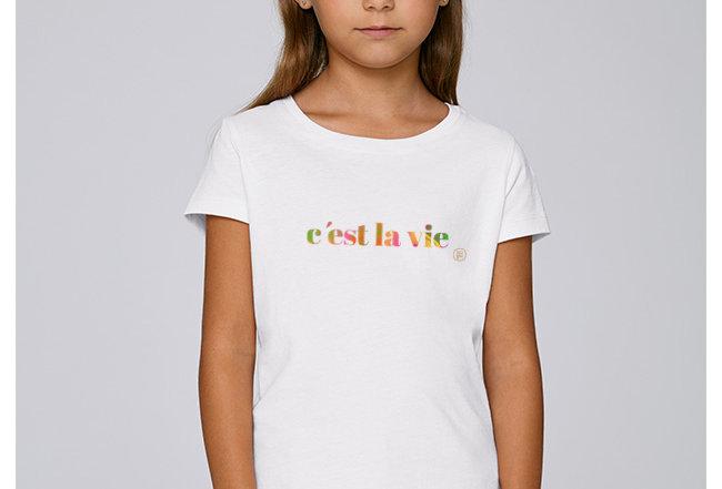 Mädchen T-Shirt- c'est la vie