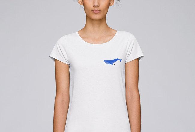 Basic T-Shirt - Reine Biobaumwolle - Blauwal