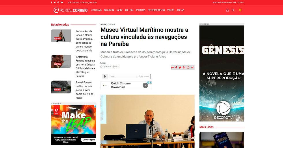 Museu Virtual Marítimo mostra a cultura vinculada às navegações na Paraíba