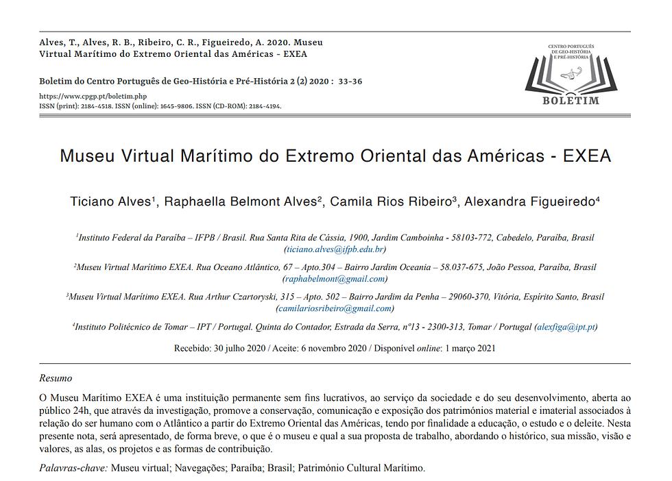 O primeiro artigo sobre o Museu Marítimo EXEA foi publicado