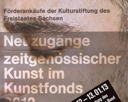Neuzugänge zeitgenössischer Kunst im Kunstfonds 2012