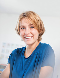 Blond Woman Smiling
