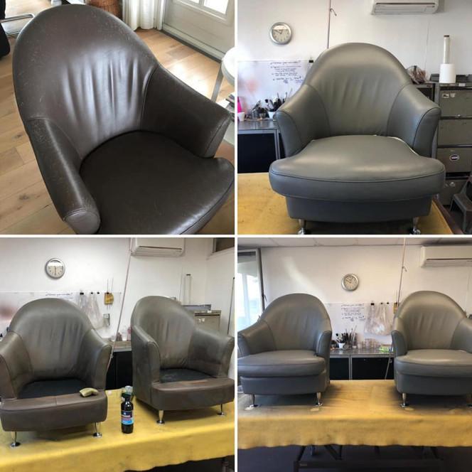 fauteuils met kattenkrabbels voor 80% gerestaureerd