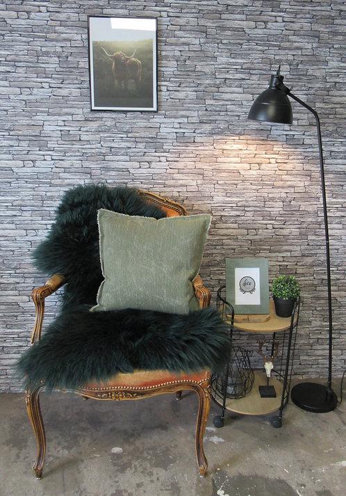 Schapenvacht - Extra Large -  Donker Groen - gekleurd
