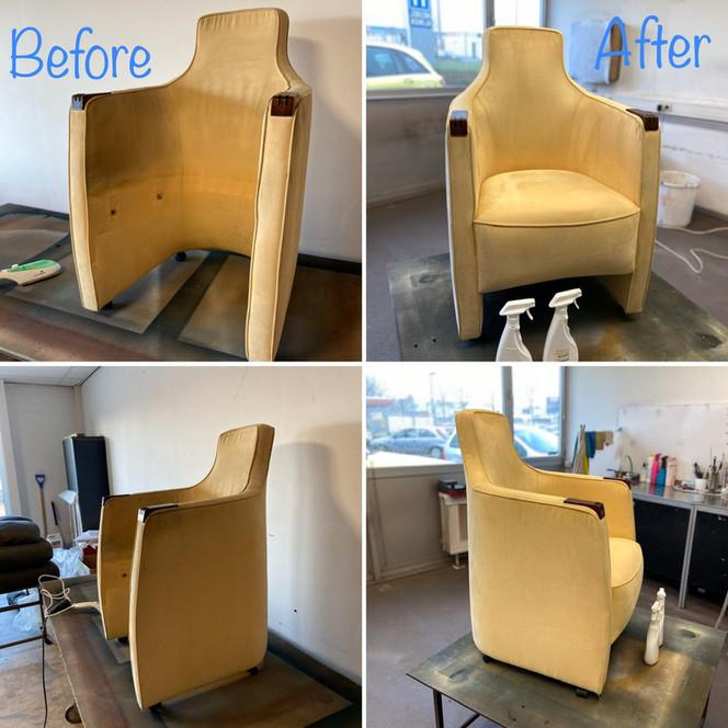 reiniging stoffen fauteuil