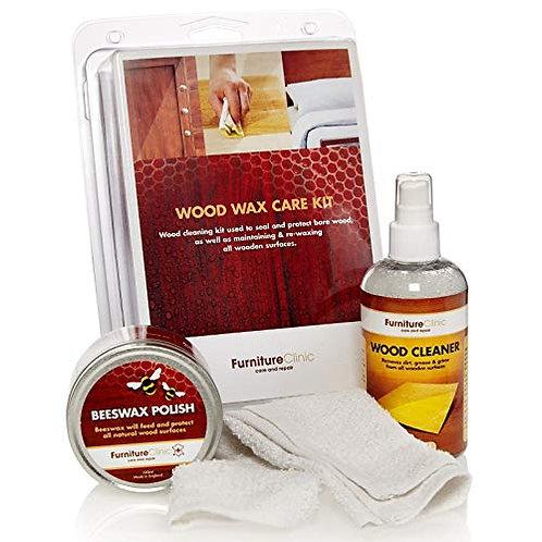 Hout Reiniger & Wax Onderhoud Set