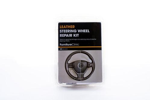 Leren Stuurwiel Reparatie Set – Kleur: Zwart – Versleten Leer Herstellen