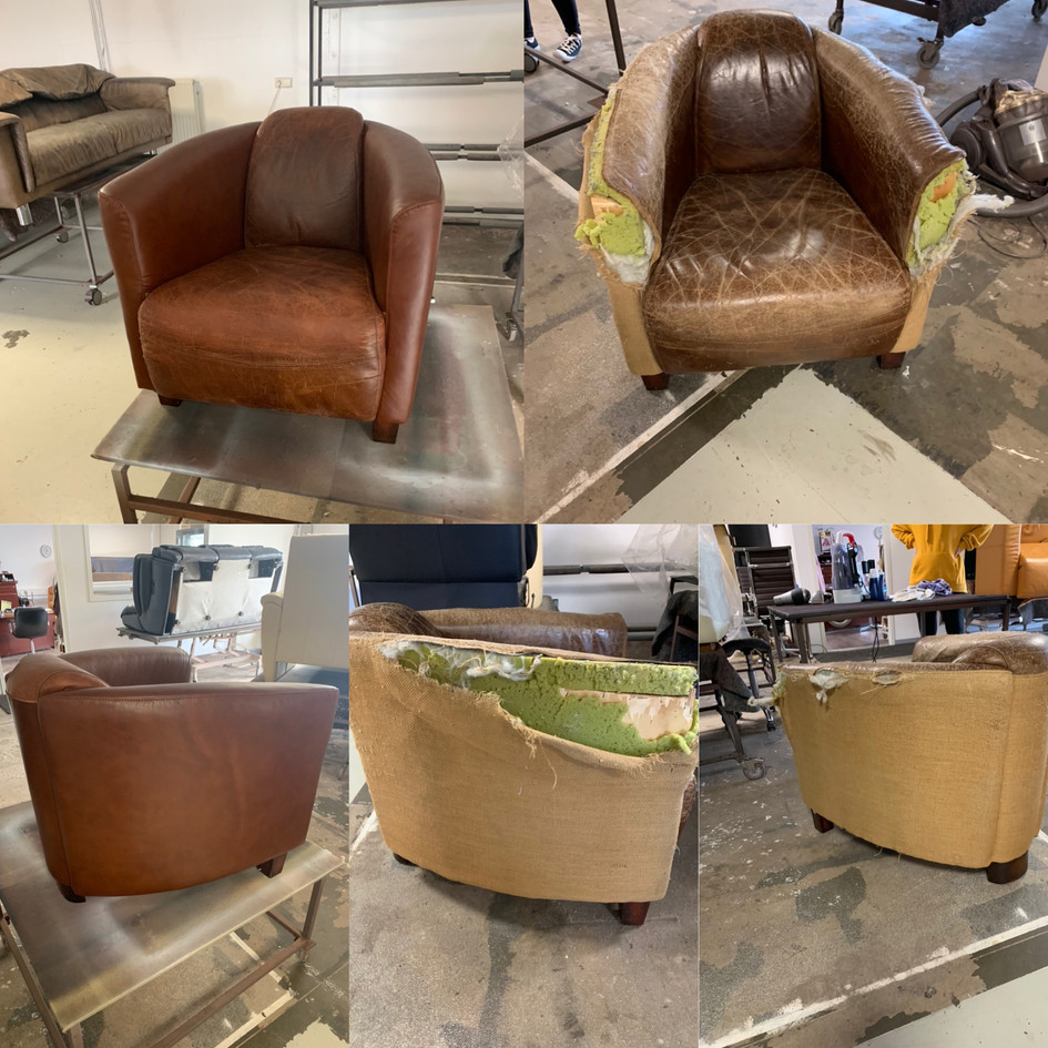 herstofferen fauteuils