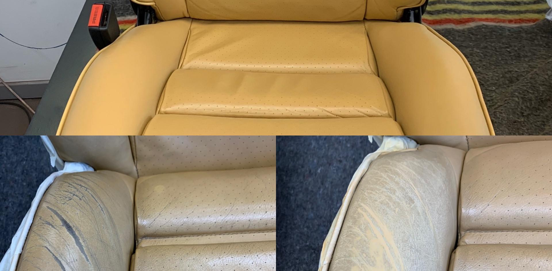 reparatie en kleurherstel autostoel