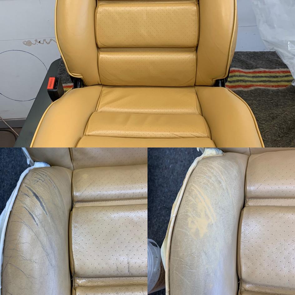 kleurherstel en reparatie autostoel