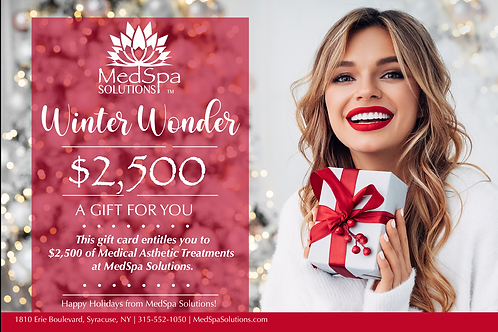 MedSpa Holiday Gift Card $2,500