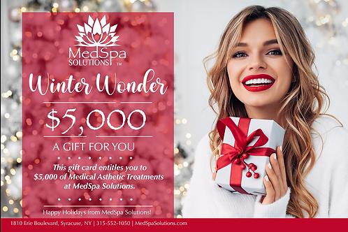 MedSpa Holiday Gift Card $5,000