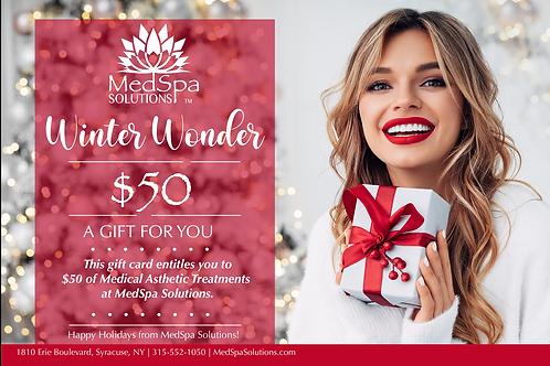 MedSpa Holiday Gift Card $50