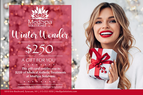 MedSpa Holiday Gift Card $250